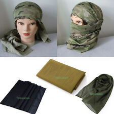 Tactical Camouflage Cover Head Scarf Veil Face Mesh Mask Neckerchief Fish Net