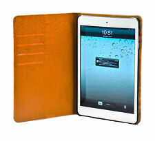 Brown/mahogany/grey-brown/Oak Wood Skin Leather Stand Case Cover for iPad Mini