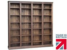 Solid Pine Bookcase,7ft x 7ft Handcrafted & Waxed Heavy Duty Library Bookshelves
