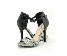 Womens Shoes Anne Michelle Enzo 33 Ankle Strap Open Toe Sandals Snake *New*