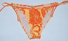Roxy 3 CALYPSO COOLE Orange/Peach Side Tie Floral Surf Junior's Bikini Bottom