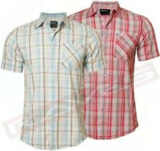 New mens DISSIDENT MH-18342 casual short sleeve check shirt S,M,L & XL