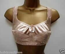 NEW LADIES WOMANS NUDE SKIN SWEGMARK LACY GOOD SUPPORT BRA SIZE 36 C TO 46 F CUP