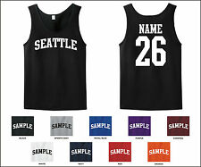 City of Seattle Custom Personalized Name & Number Tank Top Jersey T-shirt