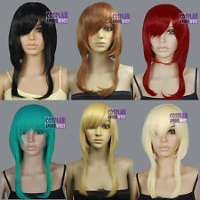 16 inch Heat Resistant Long Sides All Colors Short Cosplay Wigs