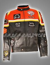 VINTAGE CLASSIC BIKER MICKEY ROURKE HDMM MOTORCYCLE SYNTHETIC LEATHER JACKET