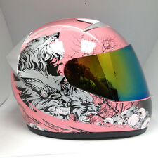 NEW 1STORM Adult Motorcycle Bike Full Face Helmet Booster Wolf Pink S M L XL