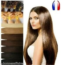 50 100 150 EXTENSIONS A CHAUD A KERATINE 100% NATURELS REMY HAIR 49,60,66 CM 1G