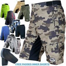 MTB DOWNHILL OFF ROAD CYCLE CYCLING SHORTS WITH FREE PADDED INNER CYCLE SHORTS