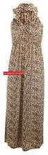 M56 NEW WOMENS LADIES ANIMAL LEOPARD PRINT SPRING COIL LONG MAXI PARTY  DRESS