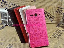 3Colors Lucky GirlS Flip Leather Full Cover Case For HTC Various mobile phones