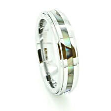 5mm Tungsten Carbide Abalone Shell Inlay Wedding Ring