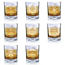 Personalised Whisky Tumbler Bubble Glass Spirit/ Whiskey Glasses Birthday Gift