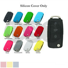 Silicone Cover fit for VW VOLKSWAGEN SEAT SKODA 3 BTN Flip Folding Remote Key