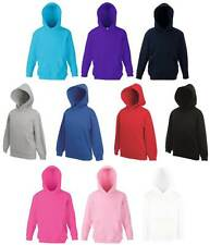 FOTL Kids Hooded Sweatshirt (5-13 years) Polycotton Plain Hoodie 10 Colours
