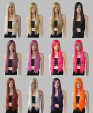 Heat Resistant All Color Long Straight Cosplay Wigs 30'' Free shipping