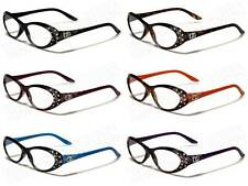 DG DESIGNER READING GLASSES LADIES WOMENS DIAMANTE SPECTACLES DG R2023 NEW