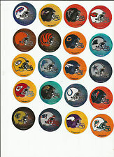 Your choice of 32 NFL Team Helmet Logo Mini Prismatic Decal Stickers 1.75 inch