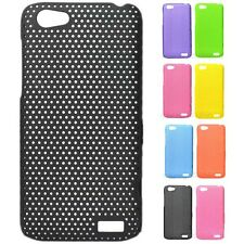 1x New Colorful Mesh Perforated Hard Case cover for HTC One V T320e Primo