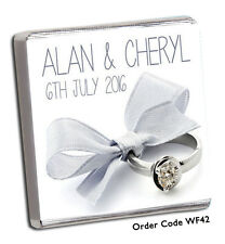 50 Personalised Chocolate Wedding Favours  :-)  OMG  (-:  and FREE CHOC !!!.
