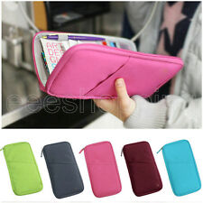 Travel Bag Pouch Passport ID Credit Card Wallet Cash Holder Organizer Case Box P