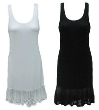 FILO Slip Dress Lace Hemline Great For Layering Brand New SIZES 8 10 12 14 16 18