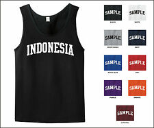 Country of Indonesia College Letter Tank Top Jersey T-shirt