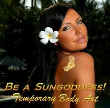 SUNGODDESS Gold Temporary Tattoos. Unique Golden Body Art
