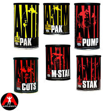 PICK ANY 2 - Universal Nutrition Animal 15 44 Pak Packs Cuts M-Stak Stak Pump