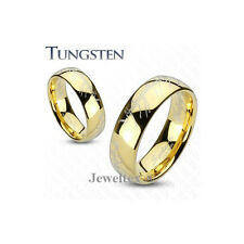 Genuine Tungsten Carbide Gold GP Lord Of  The Rings Laser Etched 6MM Ring HJ31L