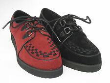 Ladies Spot On Creeper Shoes F9568 Red or Black