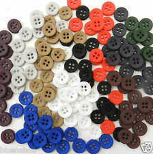 20 coloured shirt buttons 12mm size 18 red green blue black white 4 holes