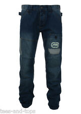 New Mens ECKO Mid Wash Denim Relaxed Fit Jeans Light Wash Detail 6 Sizes 2 Legs