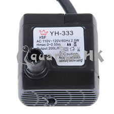 110/220V Submersible Aquarium Fountain Mini Fish Water Pump 2.5W 200L/H 53GPH