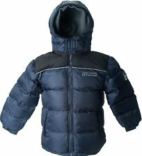 LION Force Boy's WARM Puffer Coat Winter Jacket 2-tone Black Navy Charcoal NWT