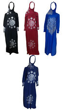 Muslim Islamic Galabeya Isdal Kaftan Gilbab Prayers Izdal Abaya Hijab Dress Eid