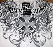 "Xtreme Couture by Affliction 2-Sided Graphic Tee ""SMASH""  MMA, Fight Club,"
