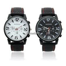 Metallic Case Army Racing Silicone Soft Rubber Smart Men Boys Sports Watch BF9