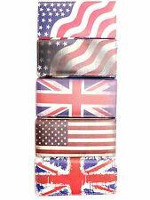Ladies Girls UK GB USA Union Jack Stars Stripes Flag Fashion Clutch Purse Bag