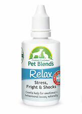 Natural Pet Remedy CALM ANXIETY NERVOUS STRESS TRAUMAS Dog Cat Horse Relax Blend
