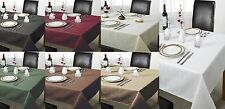 CHEQUERS LINEN PLAIN CHECKED SQUARE LOOK TABLE CLOTHS / MULTIPLE COLOURS / PARTY