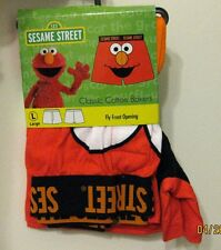 SESAME STREET ELMO Classic Cotton Boxers with Front Fly Opening