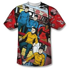 Star Trek Original Series Comic Long Panel Big Print Poly Shirt S-3XL