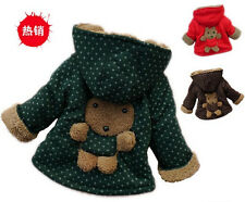 Baby Girls Boys kids Clothes Jacket Winter Warm Coat Toddlers Hoodies Coat 1-4Y