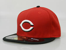 New Era Men's Fitted Hat 59FIFTY MLB Cincinnati Reds Red Black White