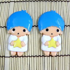 LOT CHOICE LALA BOY ANGEL STAR SANRIO CARTOON RESIN FLATBACK BIG CRAFT DIY B0289