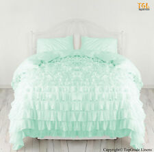 New Waterfall Ruffle Duvet Cover With Pillow sham 100% Cotton All size & Color