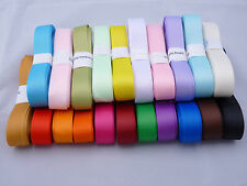 15 and 25 mm Grosgrain Ribbon ~ 5 meters ~ 21 colour choices