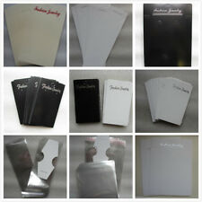 50 - 100 Jewellery Display Cards with Free Clear Packaging 4 Earrings Necklaces