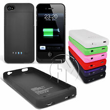 1900mAh EXTERNAL POWER BANK BACKUP BATTERY CHARGER PROTECT CASE FOR IPHONE 4 4S